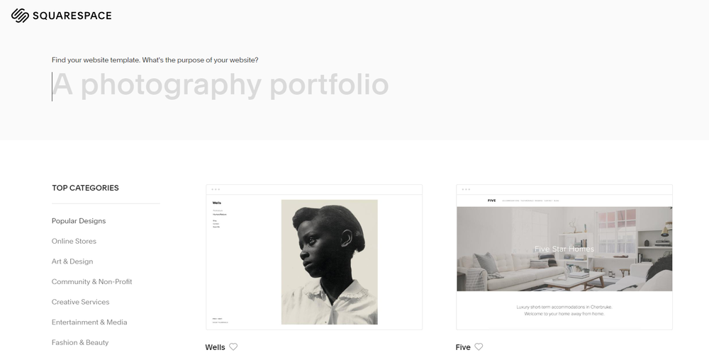I was super excited to start designing with Squarespace!