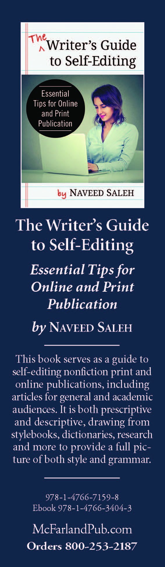 Saleh The Writer's Guide to Self-Editing BOOKMARK.jpg