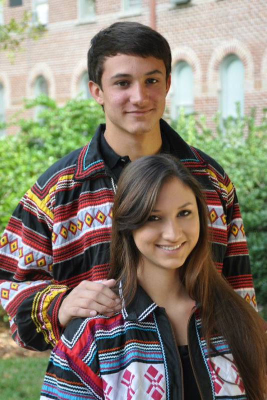 Amazing shot of Justin and Jessica in their Seminole Tribe Colors