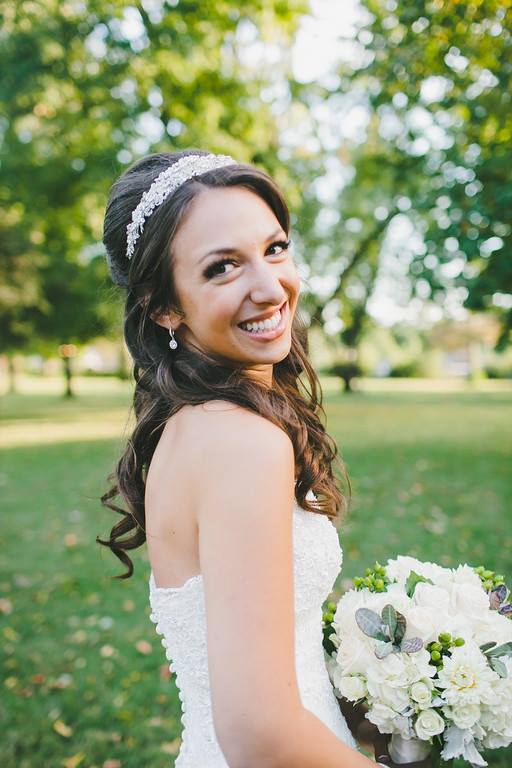 """Dominique Calvillo made my wedding day a dream day. As a hairstylist, she listened to me, dreamed with me, and then created something magical. As a person, she was fun to work with, calm and collected, and perfectly professional in every way. When I walked down the aisle that day, my hair was everything I had hoped it would be and more. Because of Dominique Calvillo, my dreams came true. "" - Mrs.  Misha Hoyt"