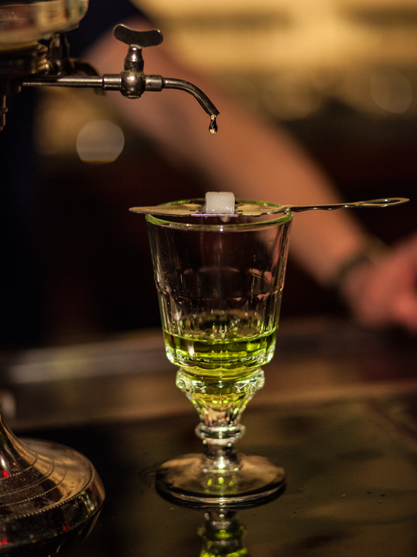 French La Louche style of diluting Absinthe.