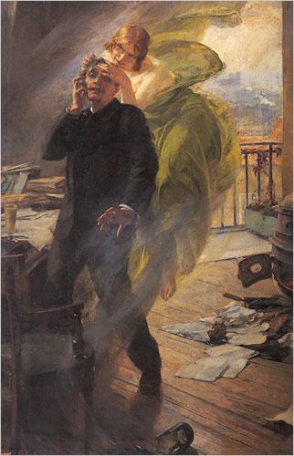 """La Muse Verte"" -Albert Maignan"