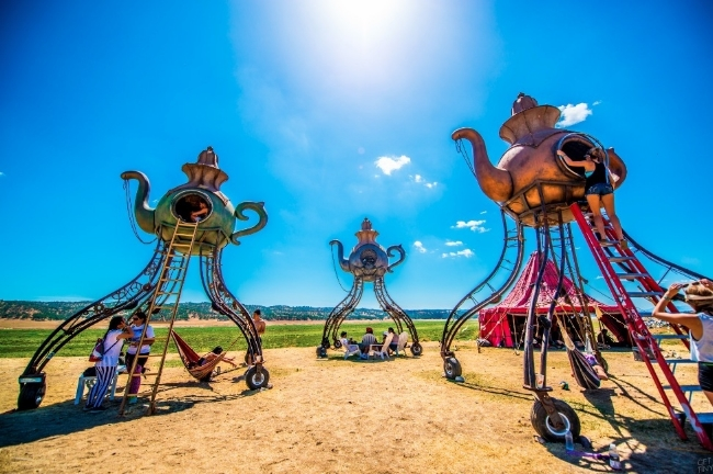 Steampunk art cars, frequently spotted at Burning Man. Photo courtesy of THUMP.
