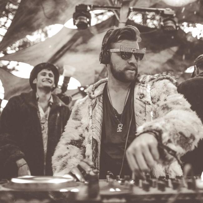 Deep Jesus DJing at Desert Hearts