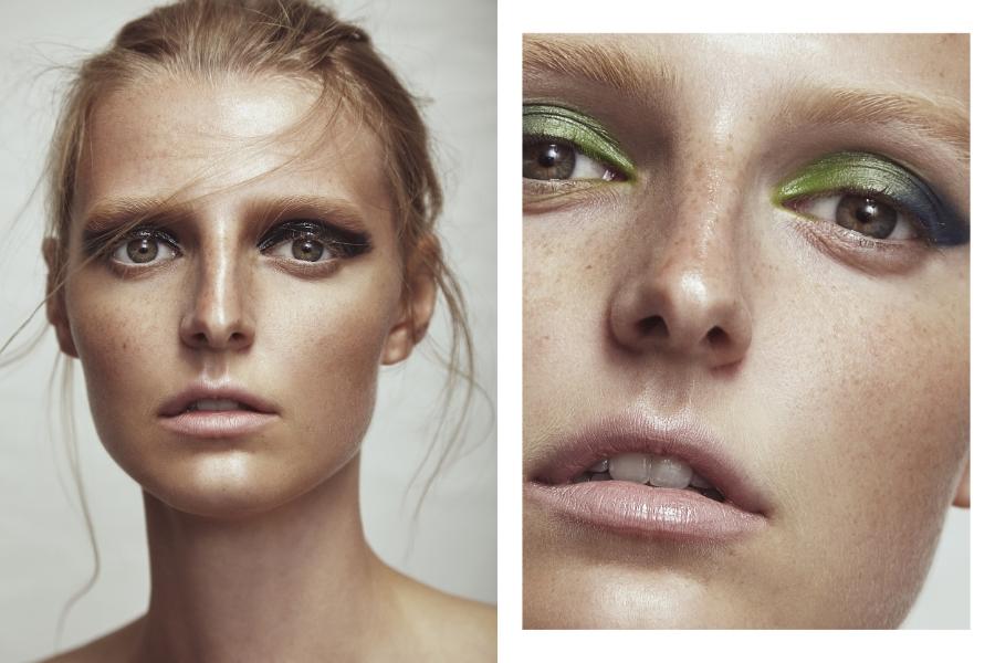 (L) Makeup Forever 12 Flash Colour Case 12 Flash Colour Case #11 black  M.A.C mixing medium shine   (R) #8 leaf green  #14 bright blue  Charlotte Tilbury Luxury Pallette The Rebel Colour Coded Eyeshadow