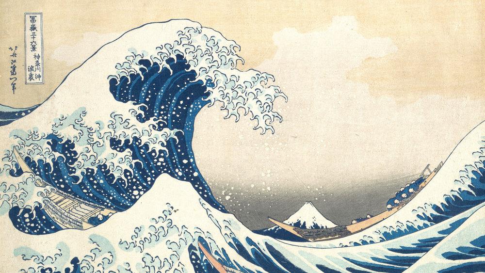 The Great Wave Off Kanagawa,  Katsushika Hokusai