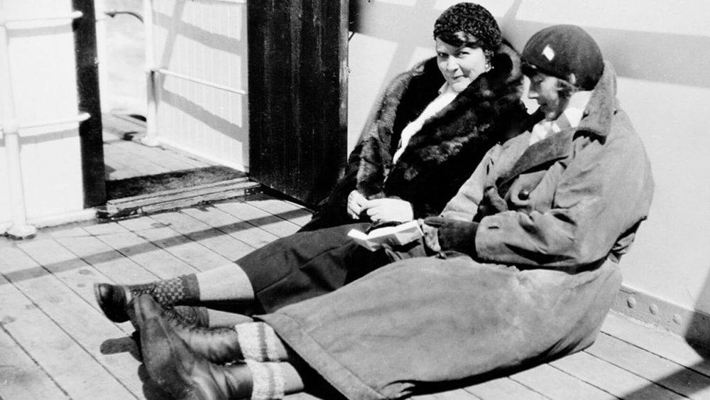 Ingrid Christensen (left) and Mathilde Wegger on a voyage in 1931 — Sandefjord Whaling Museum via Wikimedia Commons