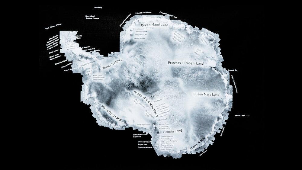 Mapping Antarctic Women prototype 2, Carol Devine 2016