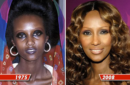 Supermodel Iman. Disturbing Irony, Misogyny & Racism of Eastern Whitening versus Western Tanning etherealauraspa.com/blog