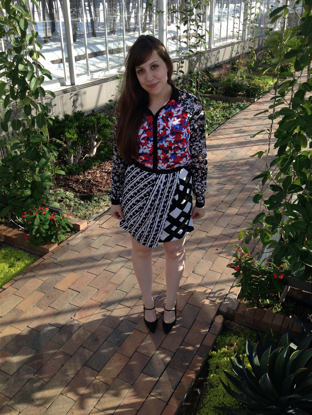 Peter Pilotto for Target Red Floral Blouse - $34.99 Peter Pilotto for Target Geo Print Skirt - $34.99