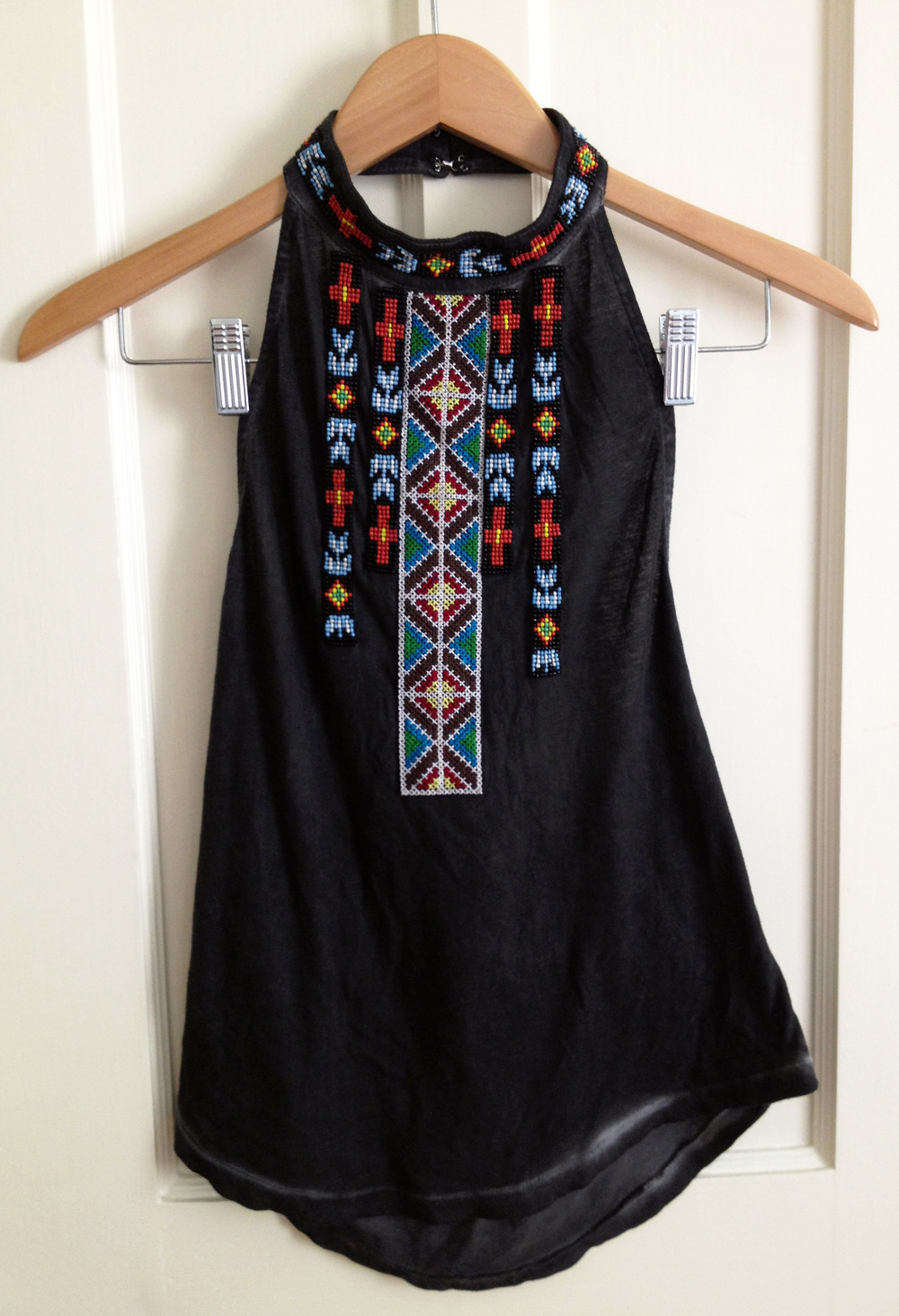 IN LOVE WITH THIS TOP. It is like Pocahontas and a comfy Urban Outfitters tee had a baby and made this. It was a BIG SPLURGE for me at $20, but I excitedly went home and wore it the very next night, so, worth it, right? Plus, the details are DIVINE.