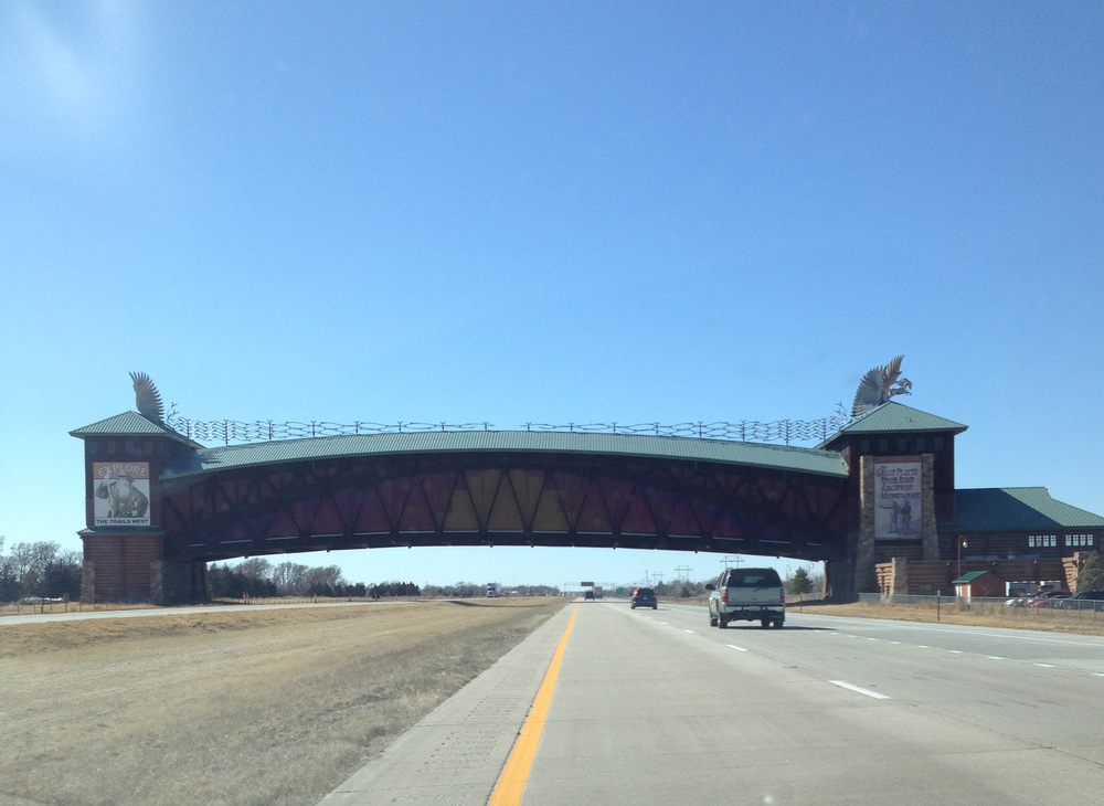 This is the Great Platte River Road Archway Monument along I-80 in Nebraska. This is about the most exciting thing that happens in Nebraska.