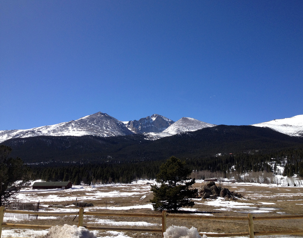 The always majestic Longs Peak. Rocky Mountain National Park, Colorado.