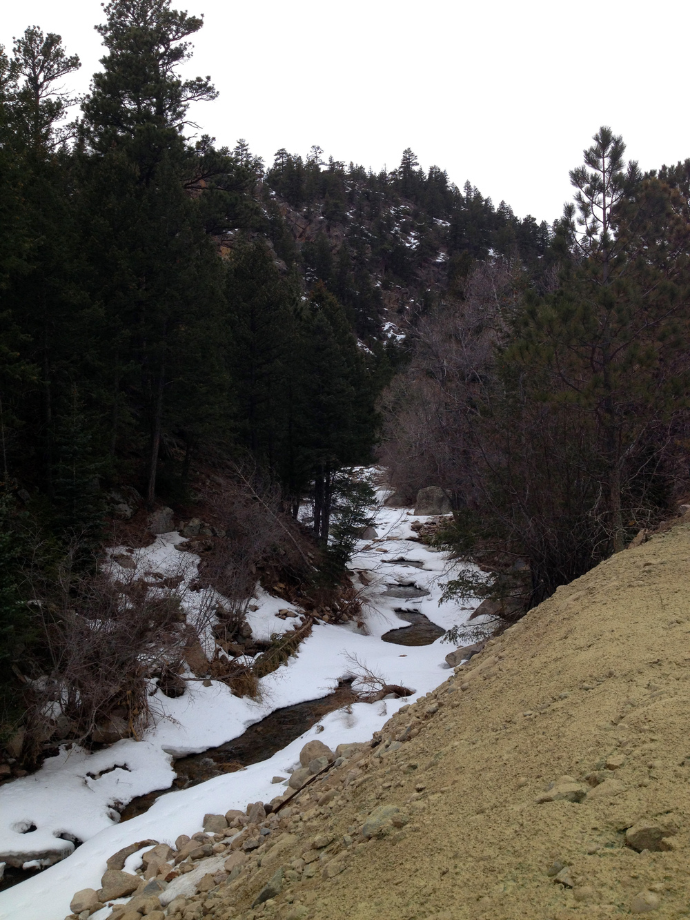 In the canyon. Winter makes its exit.