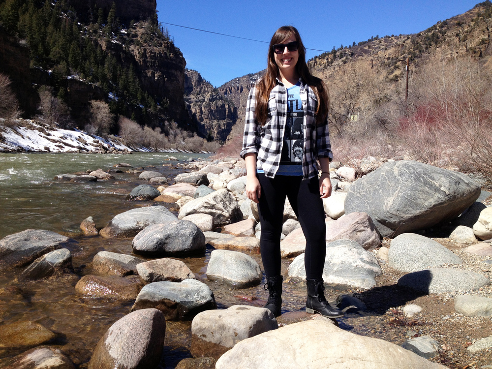Colorado Road Trip OOTD Plaid Flannel - OldNavy The Beatles Vintage Tee - Wal Mart MIA Boots - Nordstrom Rack
