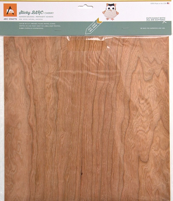 "12x12"" Cherry Barc Wood by ARC Crafts"
