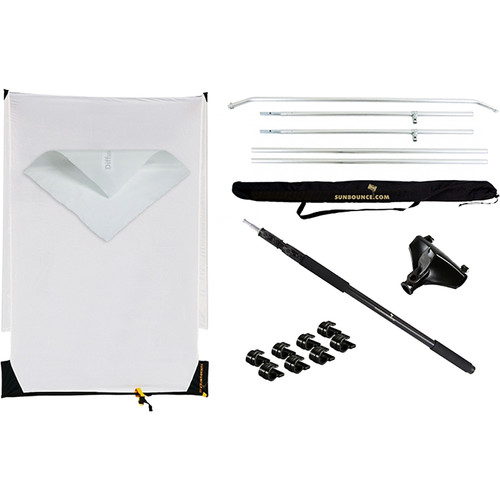 California Sunbounce Pro Sun-Swatter Starter Kit with 2/3 Stop Diffusion 4x6'