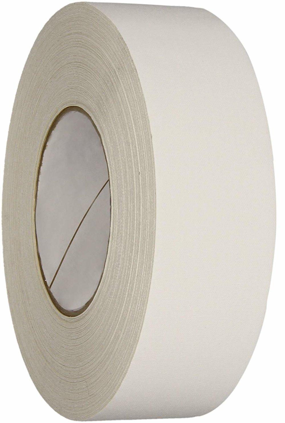 Polyken Vinyl Coated Cloth Premium Gaffer's Tape, 11.5 mil Thick, 50m Length, 48mm Width, White