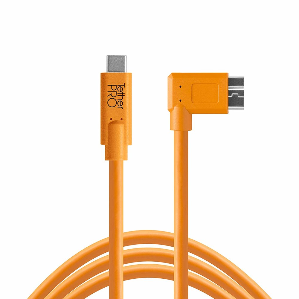 Tether Tools TetherPro USB-C to 3.0 Micro-B Right Angle (15 ft)