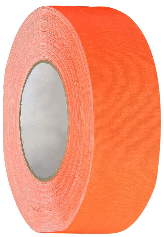 Polyken 510 Rubber Premium Grade Gaffer's Tape, 45m Length x 48mm Width, Neon Orange