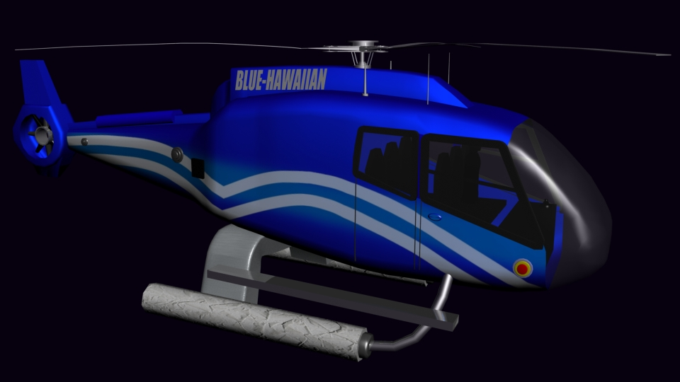 Blue-Hawaiian Helicopter