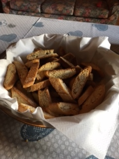 This bowl full of cantuccini barely saw us through the next breakfast!