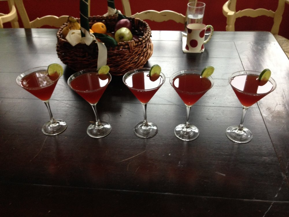 Five Pomegranate Martinis.JPG
