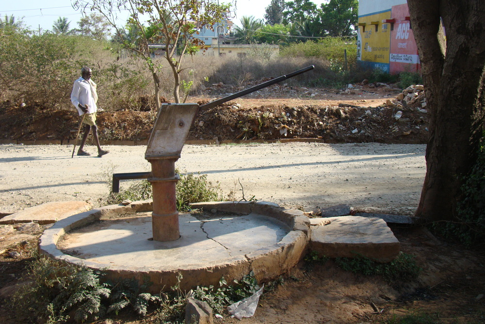 In certain rural areas, the village panchayat provides free water connections to the community's school.