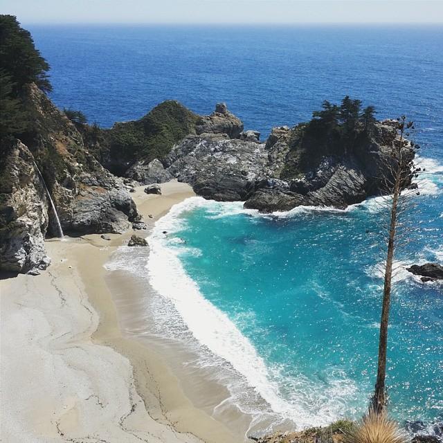 Beautiful views at #mckayfalls #blue #lumix #california #1 #vacation #ocean #waves