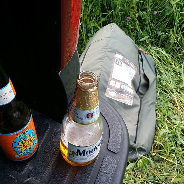 Prepping the campsite! #outdoors #beer #bros #nature #backwoods