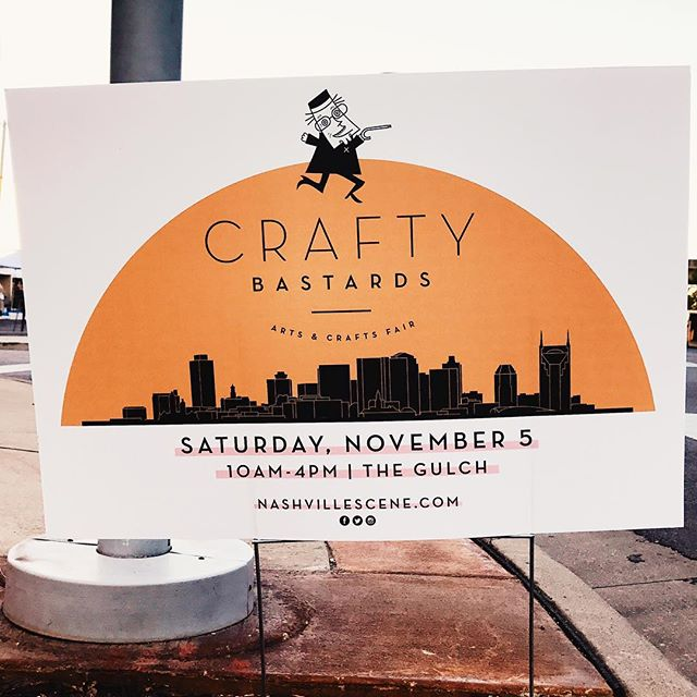 We made it! We hope to see all the lovely faces Nashville has to offer. Come see us and other handmade makers at @craftybastards fair. Today only, November 5th from 10am-4pm. @thegulchnashville #nashville