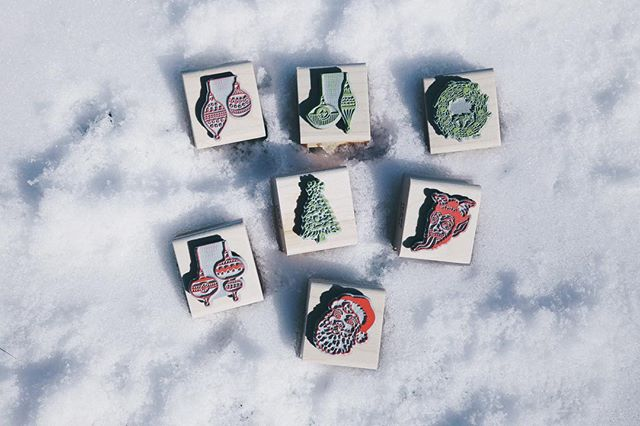 It's the final day for us to ship our goodies before Christmas. So we're tossing in a free Christmas stamp with every Etsy order placed before 3pm today. Link in our bio. Happy Holidays everyone ☃️