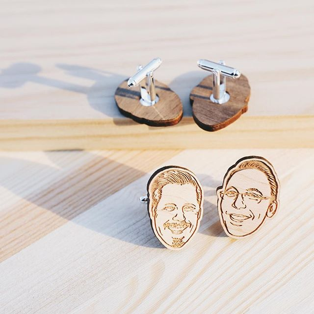 Recently completed a set of custom cuff links for two very special gentlemen. Laser etched maple wood with a laser cut walnut back. A successful little challenge. #customcufflinks