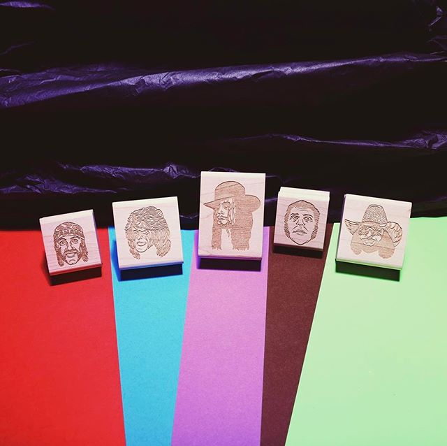 "Any classic Pro Wrestling friends in the house? Today we released 5 brand new rubber stamps. HULK HOGAN, ULTIMATE WARRIOR, THE UNDERTAKER, ANDRE THE GIANT, and RANDY ""MACHO MAN"" SAVAGE. Grab one or save $ and snag 'em all with our Pro Wrestling 5-Pack. Link in our Instagram bio. #prowrestling"