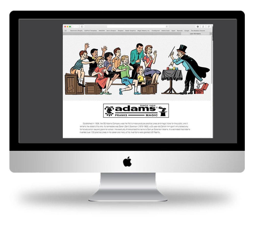 SS Adams Site Redesign