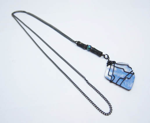 Wrapped %22Stone%22 Simple Necklace.jpg