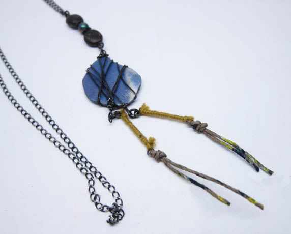 Wrapped %22Stone%22 Yellow Hemp Necklace.jpg