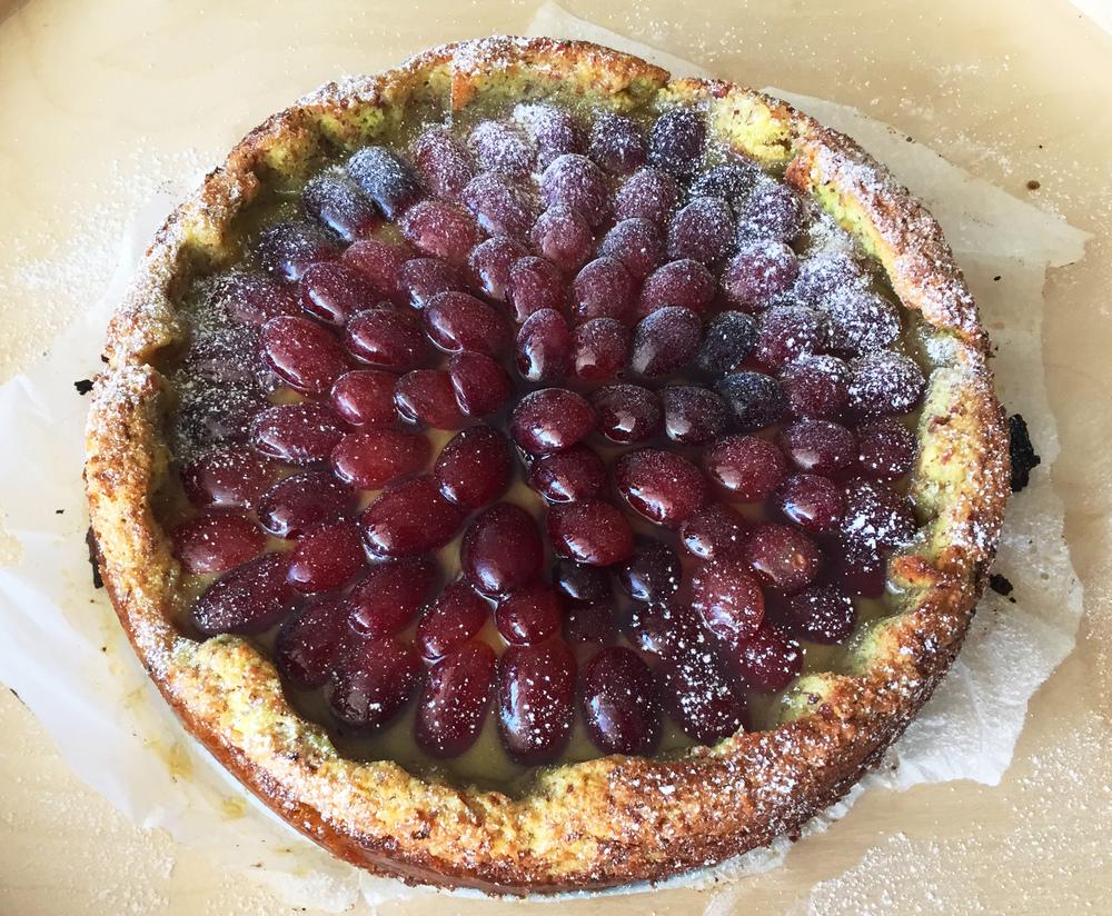 Custard & Grape Tarte