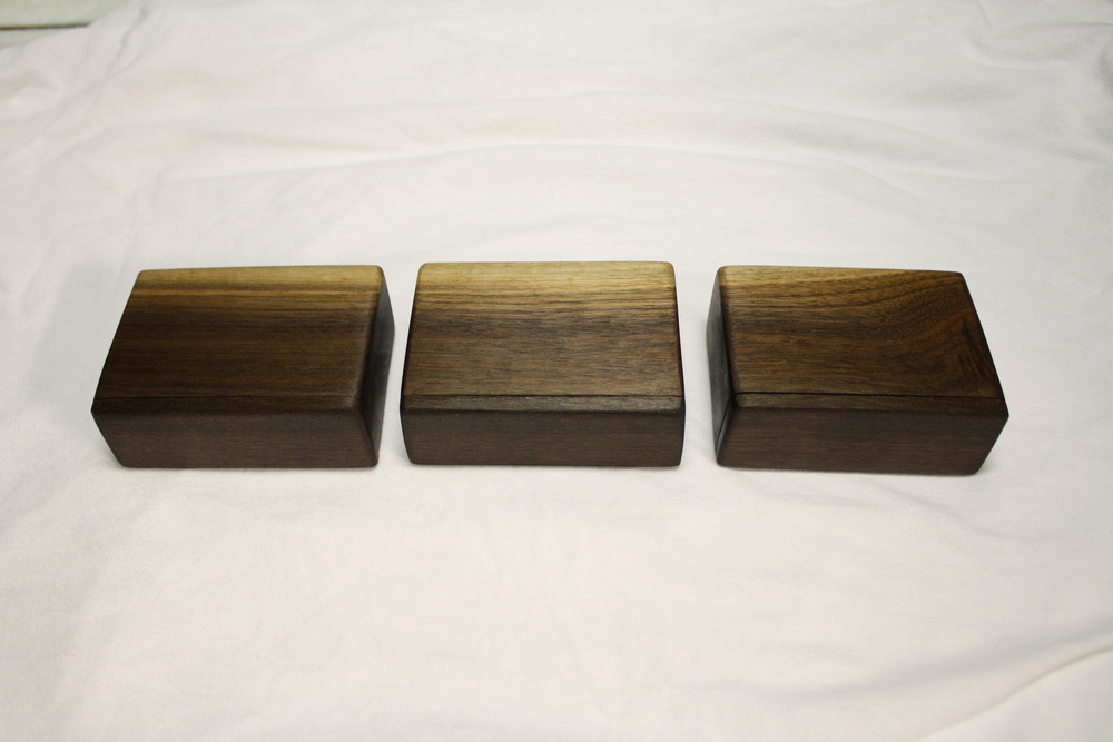 Black Walnut Jewelry Boxes