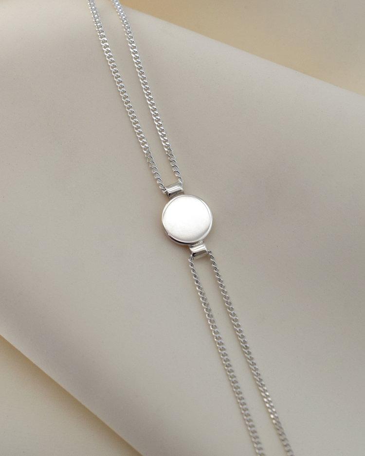 AMA Disc Chain Bracelet -Sterling Silver