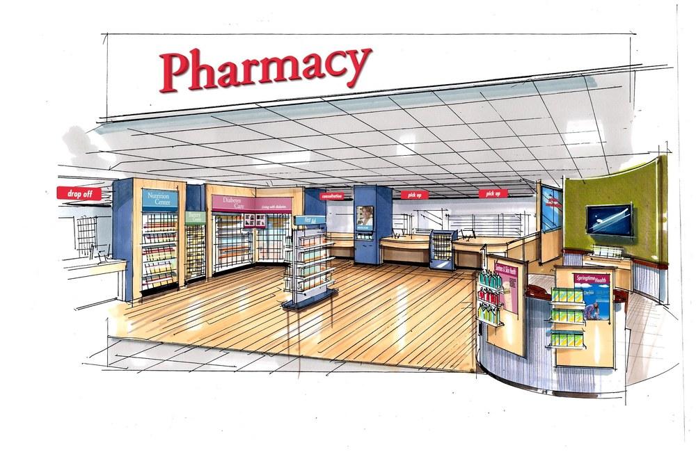 Retail space design karass innovations group llc for Modern pharmacy design