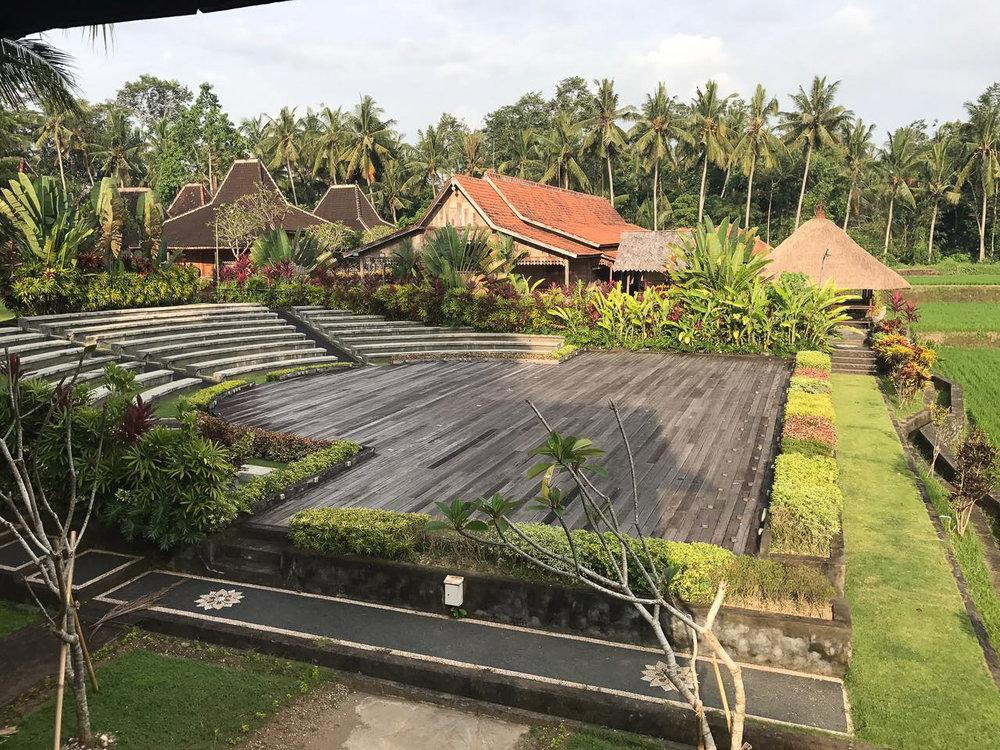 Stage at Setia Darma in Ubud, Bali