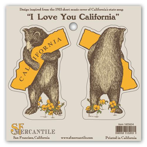 bear window clings california bear hug sticker sheet san francisco mercantile