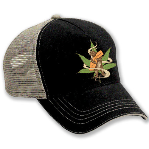 Cannabis Bear Trucker Hat — San Francisco Mercantile 91d0ce8213a