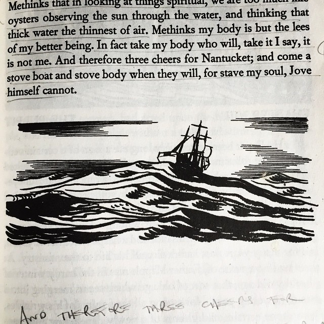 'And therefore three cheers for Nantucket; and come a stove boat and stove body when they will, for stave my soul, Jove himself cannot' #mobydick #hermanmelville #melvillemuseum #booklove #amreading