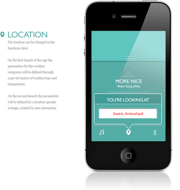 Location settings in 'Is it Nice?': an emotionally-advisory weather app that learns the user