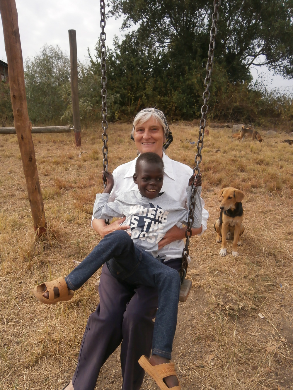 Like other abused children that we have received into Light in Africa care, the swing becomes a medium of motion and instills joy and peace.