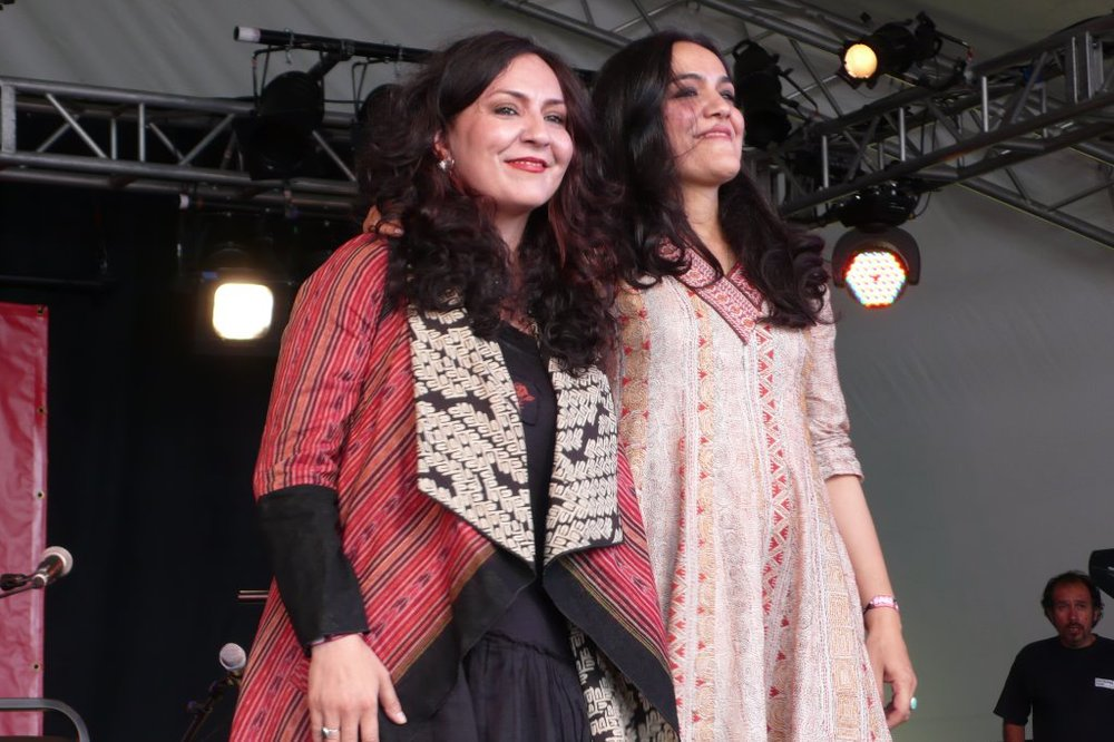 So positive, the wonderful and beautiful Mahsa ad Marjan at the end of their main set.
