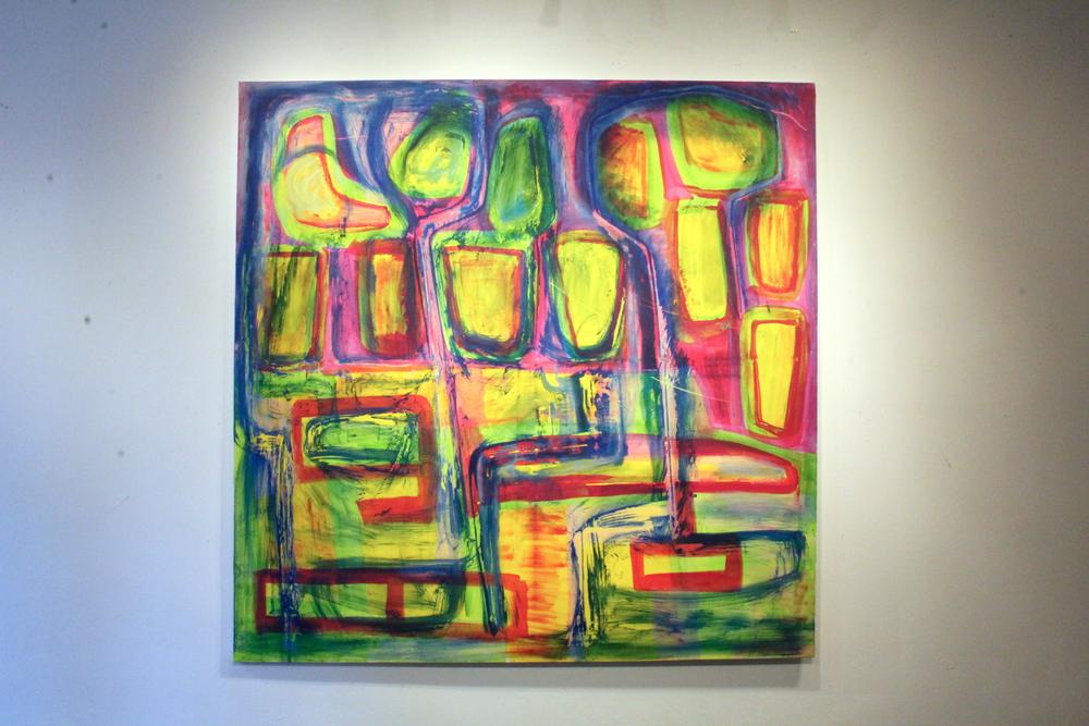 Artwork by Harry van Gestel (2015)  200 x 200 cm