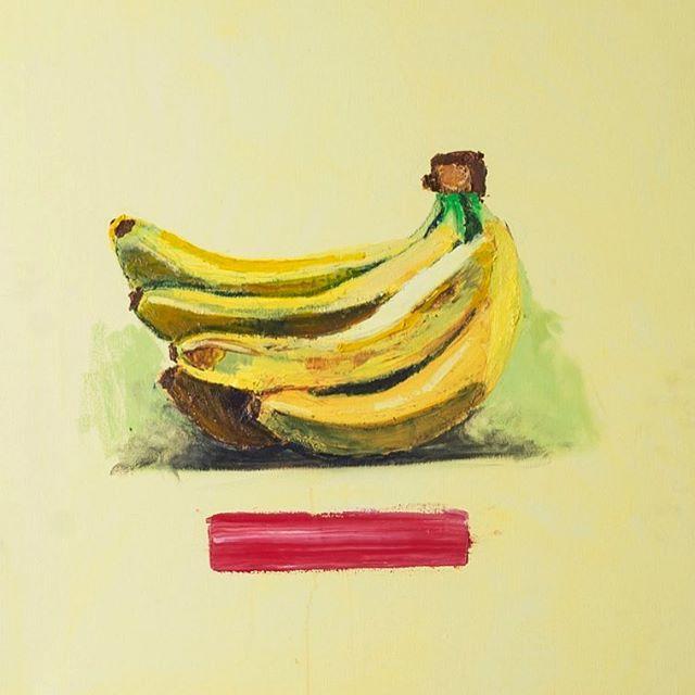"""""""Banana"""" by Bo Bosk Recent work from the artist's studio #banana #foodart"""